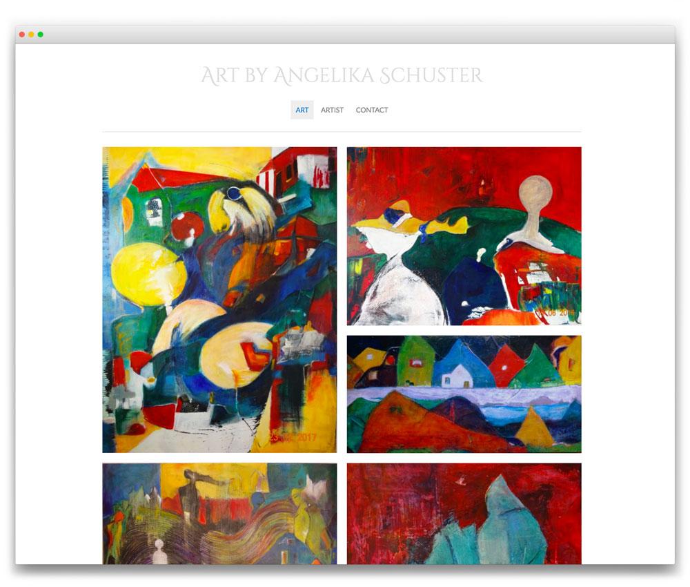 Angelika Schuster Art - Responsive WordPress website