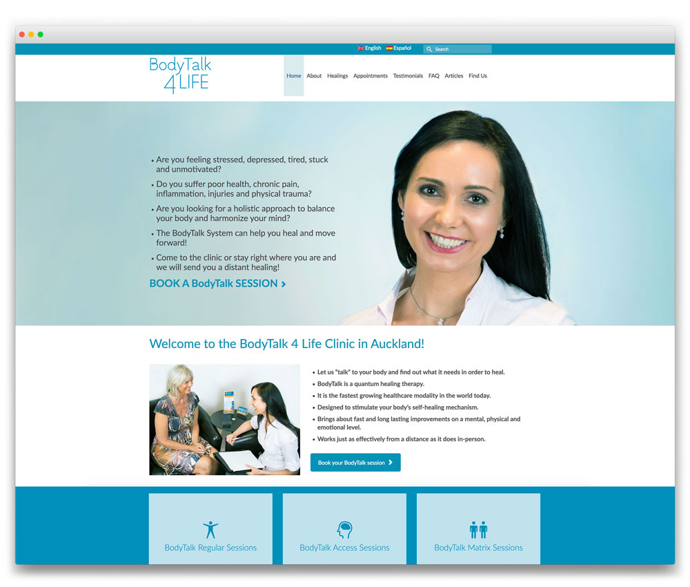 BodyTalk 4 Life - Multi-lingual Responsive WordPress website