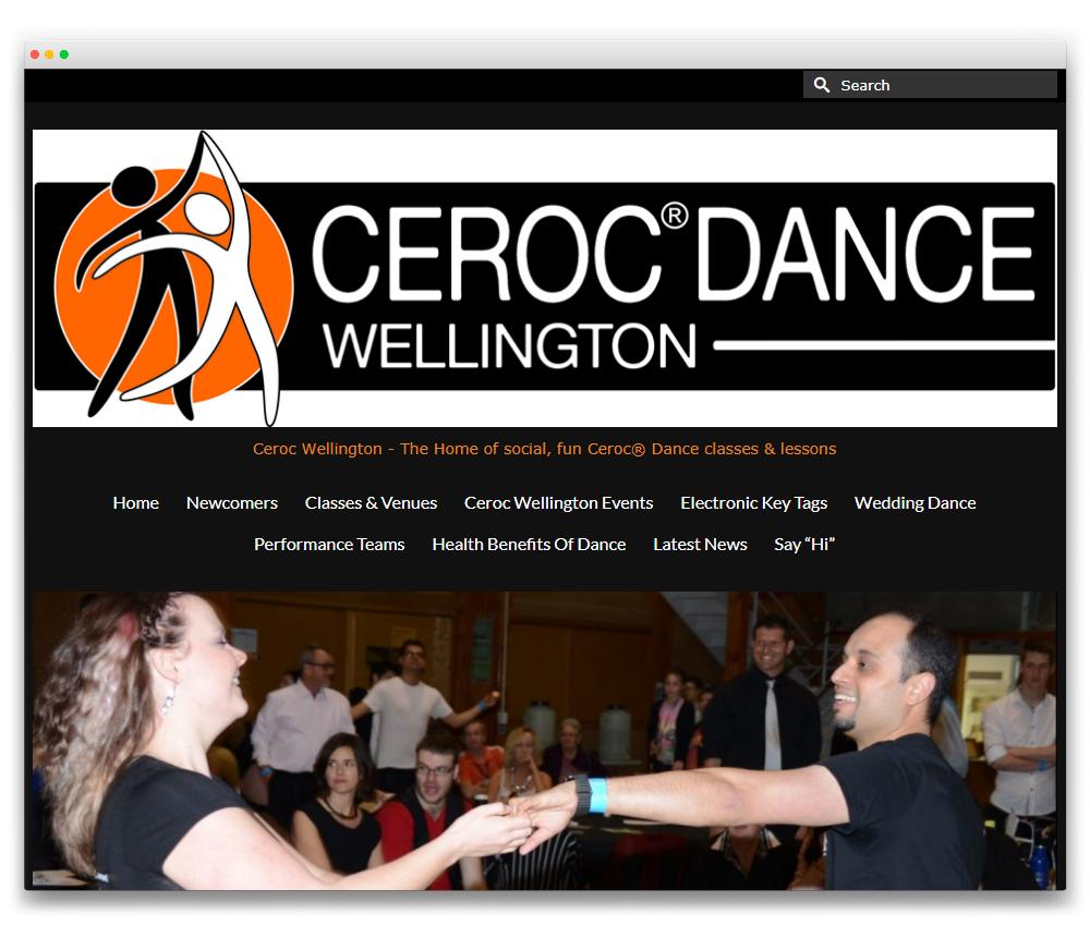 Ceroc Wellington - Responsive WordPress website