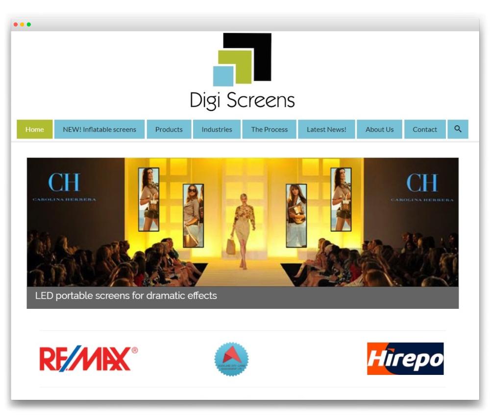 Digiscreens - Responsive WordPress website