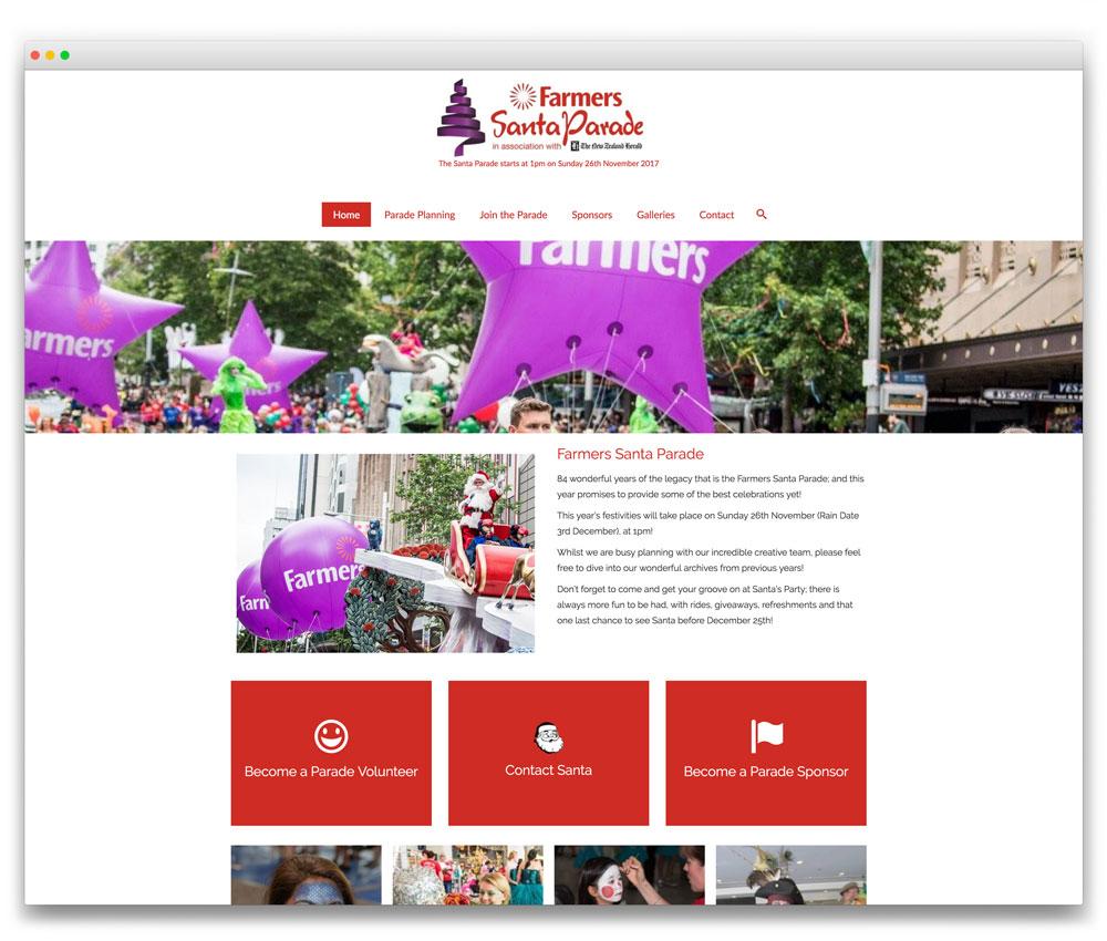 Santa Parade - Responsive WordPress website