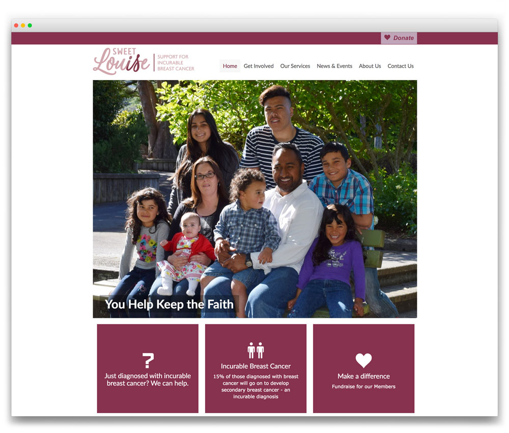 Sweet Louise - Responsive WordPress website